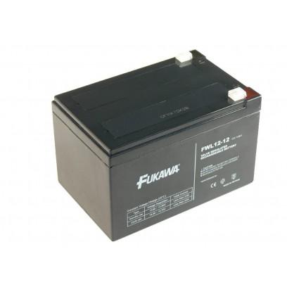 akumulátor FUKAWA FW 12-12 (12V, 12Ah, faston 6,3mm, životnost 5et)