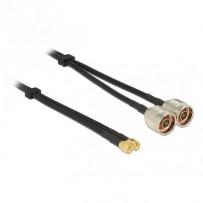 Delock anténní kabel N Plug - SMA Plug dvojitý kabel RG-58 A/U 10 m