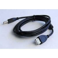 Kabel GEMBIRD USB A-A 1,8m 2.0 prodlužovací HQ s ferritovým jádrem