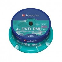 VERBATIM DVD-RW SERL 4,7GB, 4x, spindle 25 ks