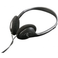 C-TECH sluchátka MHP-123, bez mikrofonu, černá