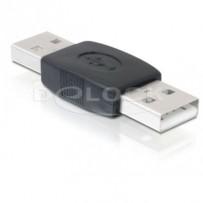 Delock USB Adapter, USB A černý samec/samec (spojka)