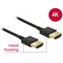 Delock Kabel High Speed HDMI s Ethernetem - HDMI-A samec - HDMI-A samec 3D 4K 1,5 m Slim Premium