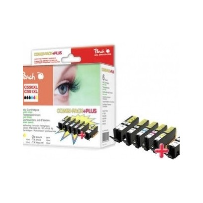 PEACH kompatibilní cartridge Canon PGI-550/CLI-551 MultiPack Plus, 3xBlack, Cyan, Magenta, Yellow, 2x23ml, 4x13ml