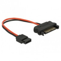 Delock Cable Power SATA 15 pin plug - Power Slim SATA 6 pin receptacle 10 cm