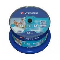 VERBATIM CD-R AZO 700MB, 52x, printable, spindle 50 ks