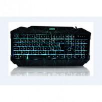 Crono CK2115 - herní klávesnice se 3 barvami podsvětlení , USB, CZ / SK, černá