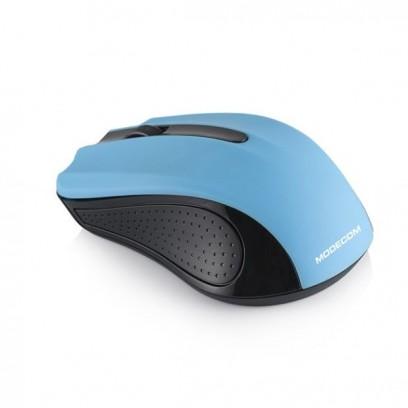 Modecom MC-WM9 bezdrátová optická myš, 3 tlačítka, 1200 DPI, USB nano 2,4 GHz, černo-modrá