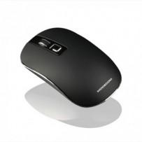 Modecom MC-WM101 bezdrátová optická myš, 3 tlačítka, 1600 DPI, USB nano 2,4 GHz, nízký profil, černá