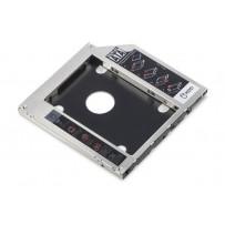 Digitus Instalační rámeček SSD/HDD pro slot pro jednotky CD/DVD/Blu-ray, SATA až SATA III, instalační výška 9,5 mm
