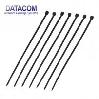 DATACOM Stahovací páska (4.8x200) černá 100ks