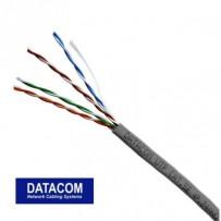 DATACOM UTP flex, Cat.5e PVC,šedý, 100m, lanko