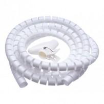 CONNECT IT trubice pro vedení kabelů WINDER, 2,5m x 20mm, bílá