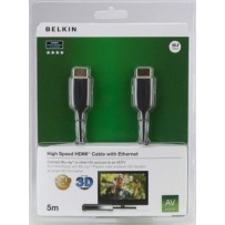 Belkin kabel HDMI HighSpeed 3D s Ethernetem,4K, zlacený - 5m