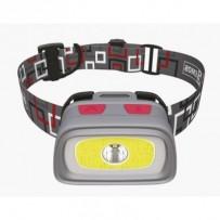 Emos LED svítilna čelovka P3531, 1x CREE XPG + 1x COB LED + červená zadní LED, 3x AAA + 1x CR2032, píšťalka