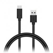 CONNECT IT Wirez USB C (Type C) - USB, tok proudu až 3A !,černý, 1 m