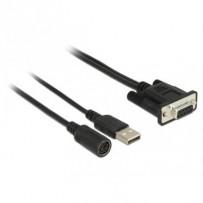 Navilock Připojovací kabel MD6 Sériový - D-SUB 9 Sériový pro GNSS přijímač s napájecím zdrojem přes USB