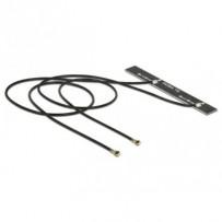 Delock WLAN Twin Antenna 2 x MHF IV / HSC MXHP32 compatible plug 802.11 ac/a/h/b/g/n 5 dBi 250 mm PCB internal adhesive
