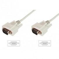 Digitus Připojovací kabel datového přenosu, D-Sub9 M / M, 2,0 m, sériový, lisovaný, be