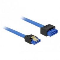 Delock Prodlužovací kabel SATA 6 Gb/s samice přímý - SATA samec přímý 20 cm modrý západka