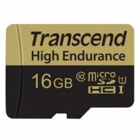 Transcend 16GB microSDHC UHS-I U1 (Class 10) High Endurance MLC průmyslová paměťová karta (s adaptérem), 95MB/s R,25MB/W