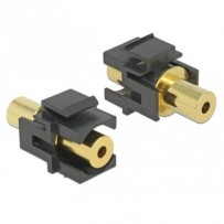 Delock Keystone Module stereo jack female 3.5 mm 4 pin - stereo jack female 3.5 mm 4 pin gold plated black