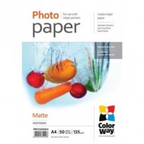 COLORWAY fotopapír/ matte 135g/m2, A4/ 50 kusů