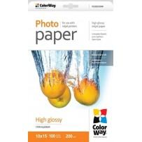 COLORWAY fotopapír/ high glossy 200g/m2, 10x15 / 100 kusů