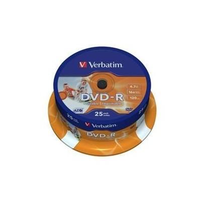 VERBATIM DVD-R AZO 4,7GB, 16x, printable, spindle 25 ks