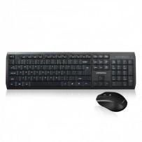 Modecom MC-7200 set bezdrátové klávesnice a myši, 1200 DPI, USB nano 2.4GHz, CZ/SK layout, černá