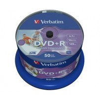 VERBATIM DVD+R AZO 4,7GB, 16x, printable, spindle 50 ks