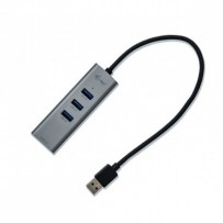 i-Tec USB3.0 HUB 3port Metal + Gigabit Ethernet adaptér, 1x USB na RJ-45
