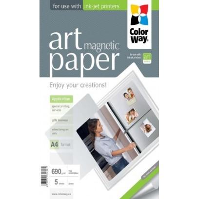 "COLORWAY fotopapír/ ART glossy ""magnetic"" 690g/m2, A4 / 5kusů"