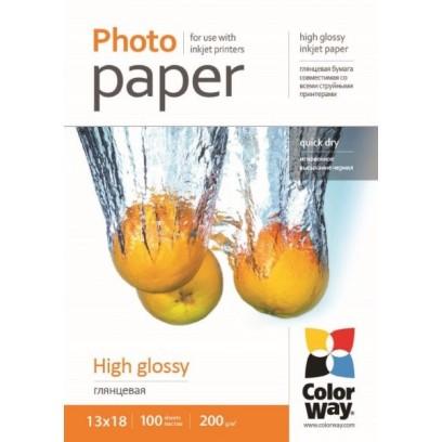 COLORWAY fotopapír/ high glossy 200g/m2, 13x18 / 100 kusů