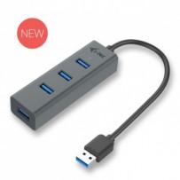 i-Tec USB 3.0 Metal pasivní 4 portový HUB bez napájecího adaptéru