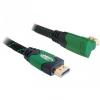 Delock Kabel High Speed HDMI s Ethernetem – HDMI A samec - HDMI A samec pravoúhlý 3 m