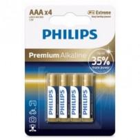 Philips baterie 4x AAA (1,5V), řada Premium Alkaline