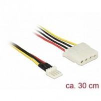 Delock Kabel Power Floppy 4 pin samec - Molex 4 pin samice 30 cm