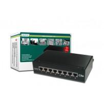 Digitus CAT 5e Desktop Patch Panel, 8 portů 8x RJ45 plně stíněné konektory