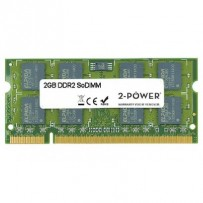 2-Power 2GB MultiSpeed 533/667/800 MHz DDR2 SoDIMM 2Rx8 (DOŽIVOTNÍ ZÁRUKA)
