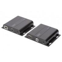 DIGITUS Sada 4K HDMI Extender přes IP, 4K*2K@30 Hz přes síťový kabel (CAT 5 / 5e / 6/7), černá