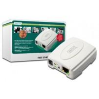 Digitus Tiskový server USB, 1 port, 1x RJ45, 1x USB A, USB 2.0 Pro všechny běžné O/STiskový server USB, 1 port, 1x RJ45, 1x U...