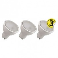 Emos LED žárovka MR16, 4.5W/32W GU10, WW teplá bílá, 350 lm, Classic A+, 3 PACK