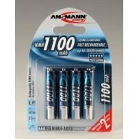 Ansmann akumulátor AAA NiMH 1100 mAh (4 ks)