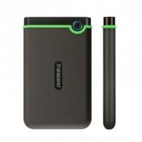 """TRANSCEND 1TB StoreJet 25M3S SLIM, 2.5"""", USB 3.0 (3.1 Gen 1) Externí Anti-Shock disk, tenký profil, šedo/zelený"""