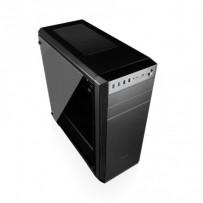 Modecom PC skříň OBERON PRO GLASS BLACK MIDI, 2x USB 3.0, 2x USB 2.0, audio HD, černá, skleněný boční panel, bez zdroje