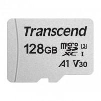 Transcend 128GB microSDXC 300S UHS-I U3 V30 A1 3D TLC (Class 10) paměťová karta (bez adaptéru), 95MB/s R, 45MB/s W