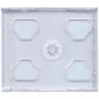 COVER IT Krabička na 2 CD 10mm jewel box + tray čirý 10ks/bal