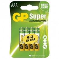 GP AAA alkalická - 8 ks (6 + 2)