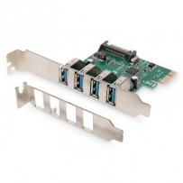 Digitus USB 3.0, 4 Port, PCI Express Add-On karta 4 porty A / F External, VL805 chipset